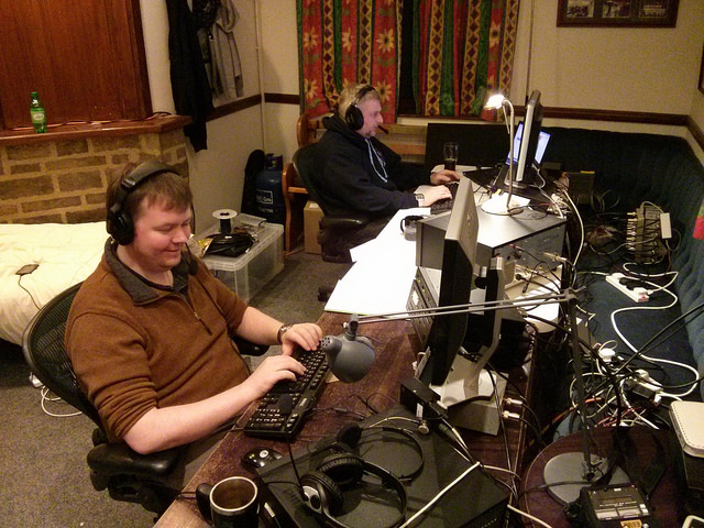 Ian (M0IRD) & Iain (M0PCB) operating the station